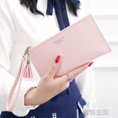 KQueenStar女士手拿長款錢包2019新款手包多功能卡包手機包零錢包