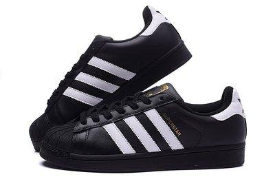 D-BOX  Adidas SUPERSTAR FOUNDATION 貝殼頭 經典 複刻 板鞋 黑色 金標 B27140