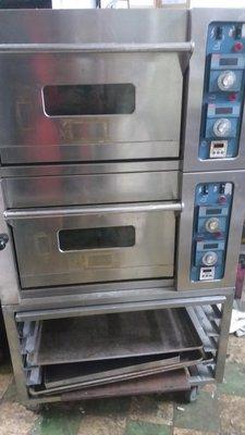 烤箱三麥两層两盤~有蒸氣石板、保固半年