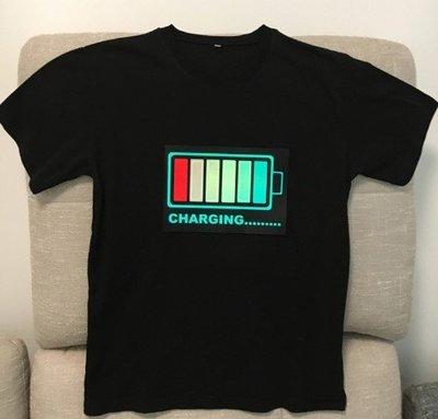 【愛團購 iTogo】EL聲控T恤|發光T恤|閃光T恤(抖音同款) 長袖加100元
