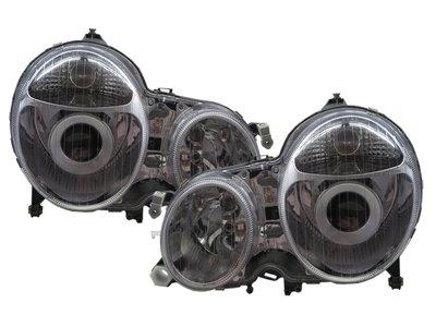 0331卡嗶車燈 Mercedes-Benz 賓士 E-CLASS W210 00-02 魚眼 V2 大燈 電鍍