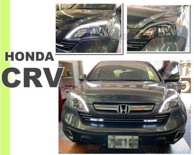 小亞車燈*全新 實車 HONDA CRV 3代 3.5代 07-12 年 類賓士款 黑框 R8 光柱 魚眼 大燈