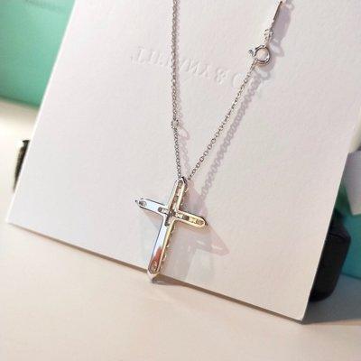 Mina 歐美日韓職業代買 美國免稅州代購 Tiffany 蒂芙尼 新貴鑽石十字架項鍊 超級buling 附包裝