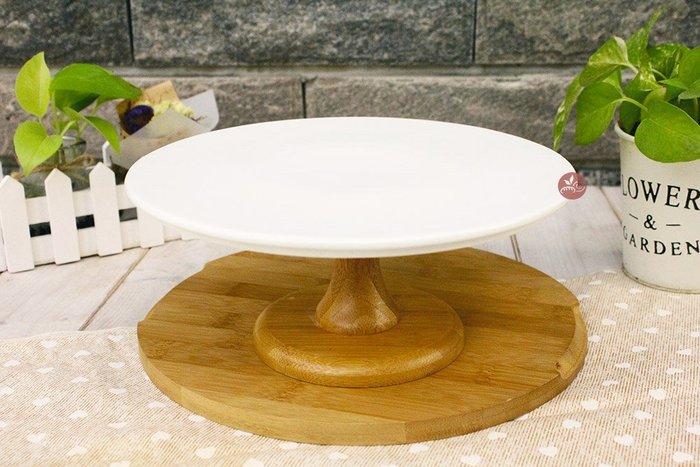 陶瓷展示架_9吋高竹腳_22.5x高10.5cm_B075-011◎蛋糕架.單層架.展示架.蛋糕.餅乾.西點