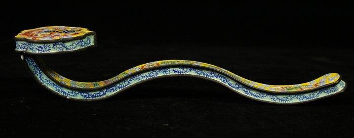 悅年堂 --- 銅胎 畫琺瑯 八寶博古圖 如意
