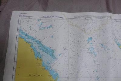紫色小館90------DEPTHS IN METRES-TASMAN AND CORAL SEAS
