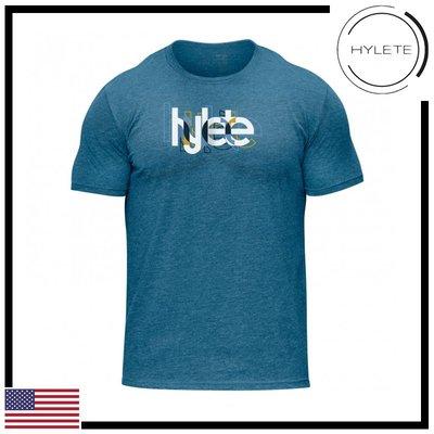 ►瘋狂金剛◄藍色  HYLETE overlap tri-blend crew tee 柔軟 透氣 短袖T恤