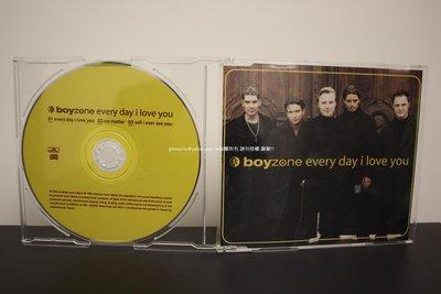1999年環球唱片Boyzone男孩特區 三首冠軍特輯Every day I love you中英歌詞 二手少聽請看圖文