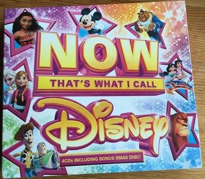 正版全新4CD~迪士尼精選97首Now that's what I call Disney 小美人魚/風中奇緣/阿拉丁
