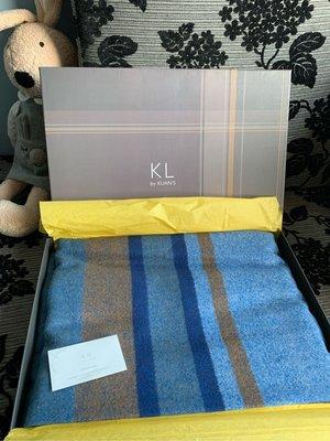 kuan's 寬庭 毛料 土耳其藍 羊毛料 蓋毯 毛毯 床毯 美極品