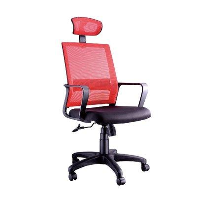螞蟻雄兵 LV-191 網布辦公椅(紅色款) 電腦椅 職員椅 會議椅 電競椅 透氣耐坐 人體工學 頭枕 辦公桌椅 椅子