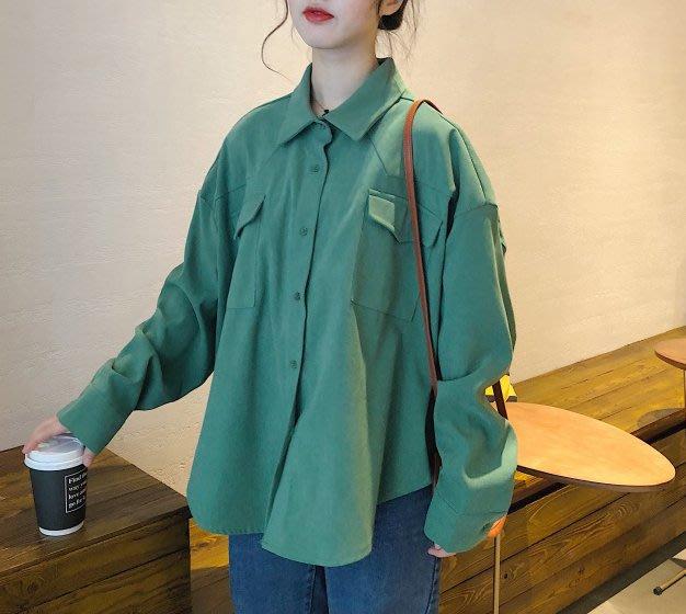 SeyeS  street雜誌英倫自然風古著單色寬鬆襯衫/外套