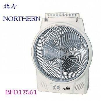 【家電購】缺貨~德國 北方 17吋風罩充電式DC節能箱扇(LED照明燈) BFD17561 BFD-17561