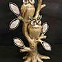 貝殼鏡面貓頭鷹大樹組,附盒裝*最特別的禮...