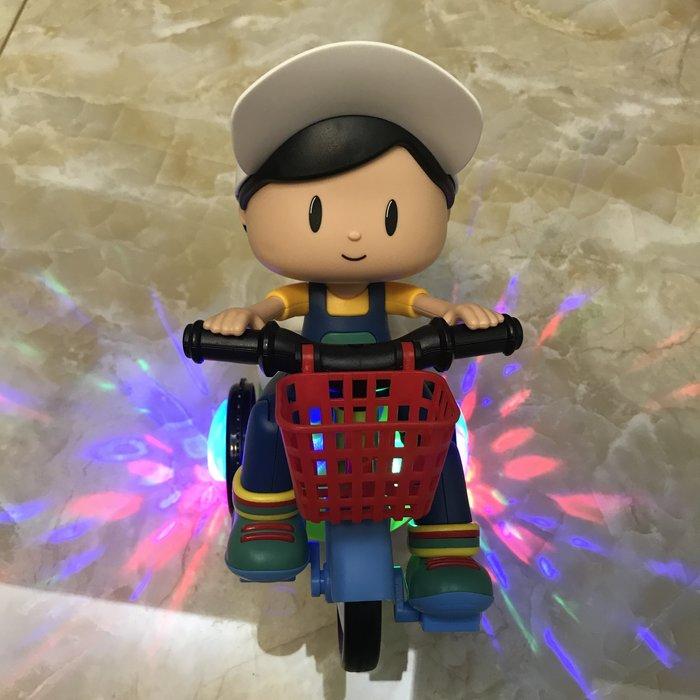 積木城堡 迷你廚房 早教益智電動三輪車玩具網紅兒童特技音樂旋轉聲光1-2-3歲大頭女男孩
