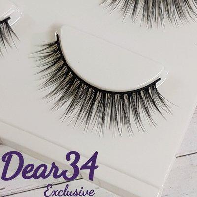 《Dear34》3D立體款08眼中長V假睫毛自然推薦 單款三對入