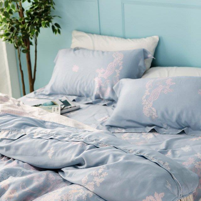 MIT 60支天絲-薄床包鋪棉被套組【蘭心】(雙人5尺) -絲薇諾