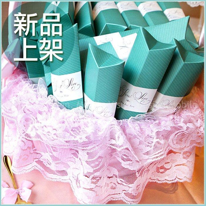 【Sweet Love Tiffany盒玫瑰湯匙二入禮盒X50份+大提籃X1個】-婚禮小物/桌上迎賓禮/送客禮/贈品