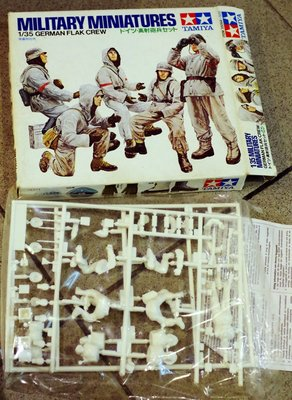 絕版-Tamiya-35094-1/35- German Flak Crew Figure Set-made in Japan -加拍賣費3元-M-150