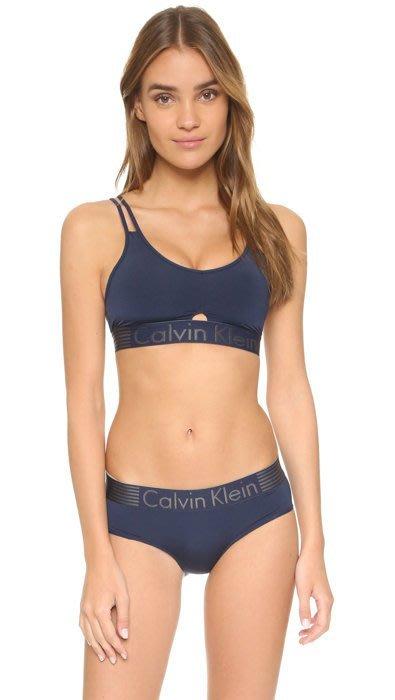 (成套現貨) 全新真品 CK Calvin Klein 新款運動風內衣+三角褲-海軍藍 S/M