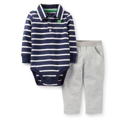*Dou Dou House*美國進口童裝Carter's-二件式POLO連身衣套裝/連身衣+長褲-(現貨+預購)
