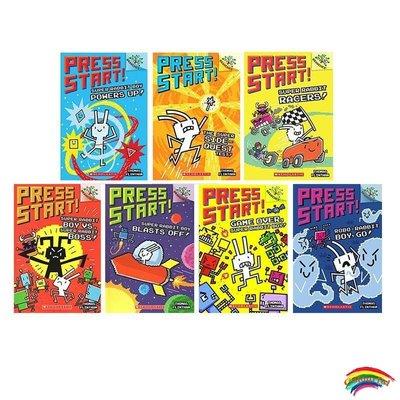英文原版7冊 PRESS START:game over, super rabbit Race boy powers up 學樂初級章節橋梁書 分級閱讀物 Sc