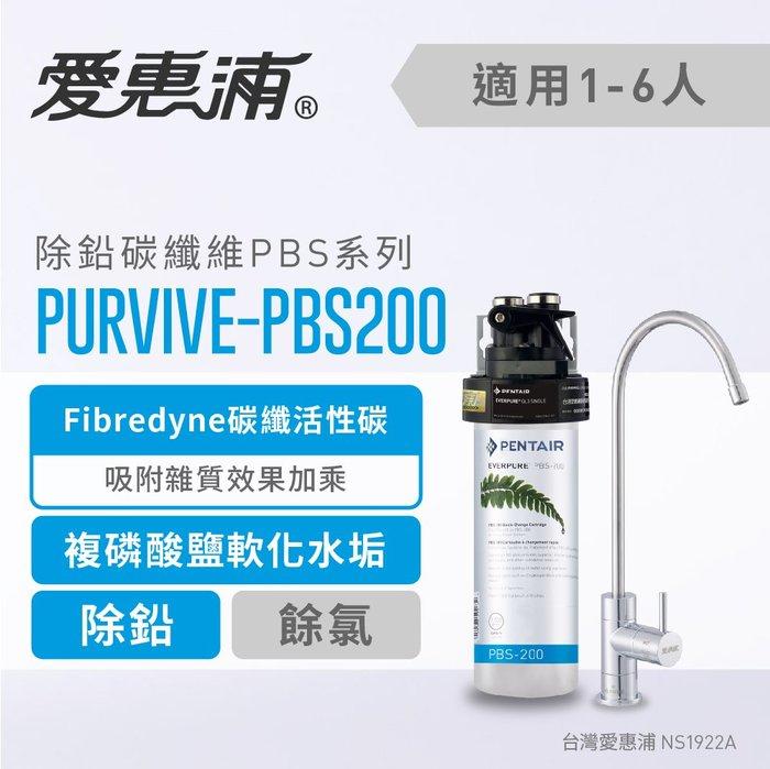 (全省免費原廠安裝) 愛惠浦 Everpure PurVive-PBS200 除鉛抑菌型