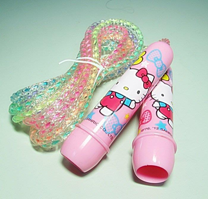 【阿LIN】401AAA Kitty 炫彩跳繩 健身運動用品 凱蒂貓 KT 膠繩 玩具