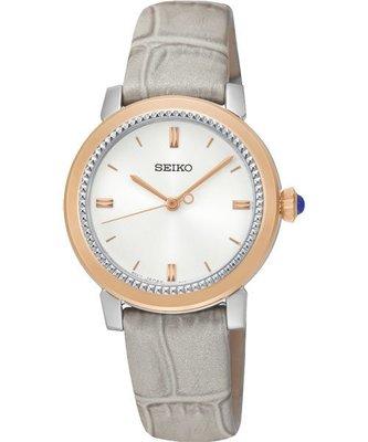 SEIKO CS 系列大三針石英女錶-銀x灰/ 30mm 7N01-0HS0P(SRZ452P1) 新北市
