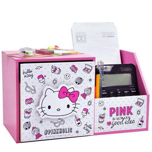 正版授權 Hello Kitty 收納盒 多功能收納櫃 收納  KT 三麗鷗 生日禮物 沂軒精品 U0003