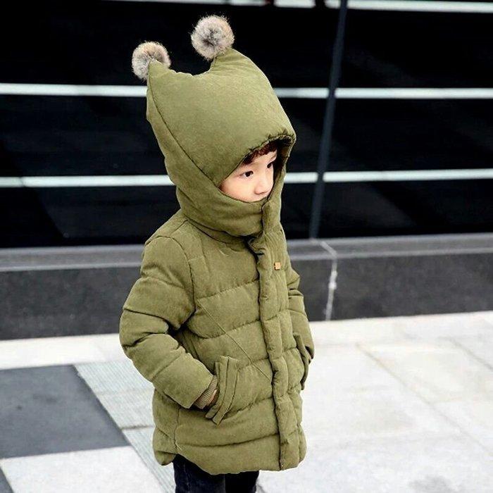 🚩暖翻🚩兒童中長款冬裝/羽绒棉服/男女童加厚棉衣外套/嬰幼兒/寶寶【80-120cm】