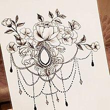 【萌古屋】線條花鳥手臂花臂 - 男女防水紋身貼紙微刺青貼紙SY-B19 K29