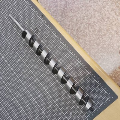 40mm螺旋鑽頭-總長度約46公分長-適用於4分三爪夾頭以上的電鑽可鑽土挖土孔-溫室網室用(錏管與鋅管植入或填肥料施肥...
