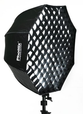 呈現攝影-Phottix 八角簡易傘式柔光罩 80cm 附蜂罩網格 外接閃燈專用 柔光箱  離機閃 canon 580