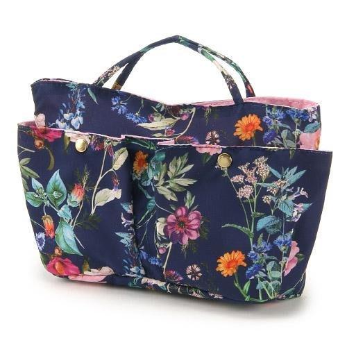 日本製籃底花卉包中包/袋中袋/包包收納袋/包包隔層--秘密花園