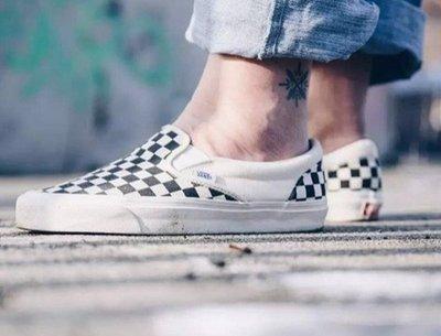 Vans OG Classic Slip On 米白 棋盤 格紋 黑白 藍盒 懶人鞋 男女鞋 VN000UDFF8L