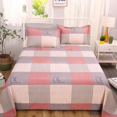 100%純棉老粗布床單單件1.8m2米1.5床棉麻亞麻雙人被單枕套