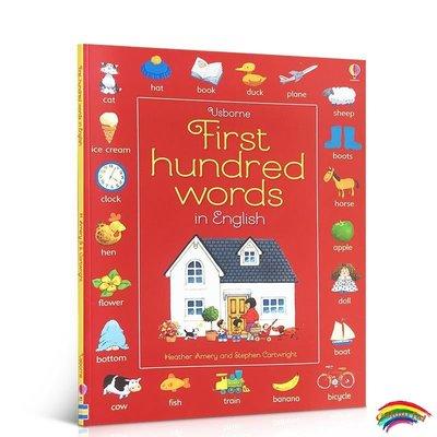 原版英文first hundred words english基礎英語100詞尤斯伯恩圖書單詞書日常詞匯英語繪本書籍兒童