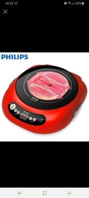 PHILIPS 飛利浦不挑鍋黑晶爐(活力紅) HD4989/ HD-4989 高雄市