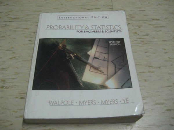 PROBABILITY & STATISTICS FOR ENGINEERA & SCIENTISTS(第七版)作者:DOUGLAS C. GIANCOLI