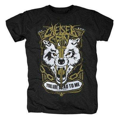 新款Chelsea Grin歐美老虎恐怖死核重金屬男士短袖黑色T恤