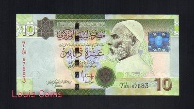 【Louis Coins】B112-LIBYA--2009利比亞紙幣10 Dinars
