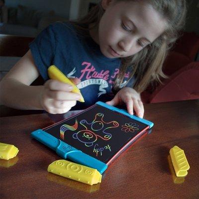 美伢D賣場美國Boogie Board兒童電子手繪板Scribble手寫板 晶小畫板彩虹版