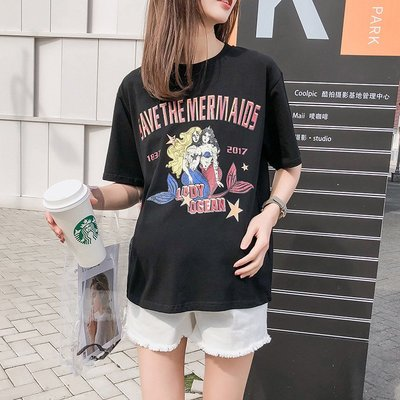 夏季孕婦裝韓版短款孕婦短袖T恤上衣打底衫彈力柔軟時尚潮媽夏裝