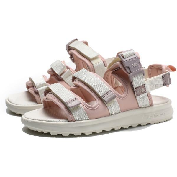 ➕S.P➕女鞋 NEW BALANCE 黏帶 魔鬼氈 涼鞋 運動拖鞋 乾燥粉 粉紅 SDL750SC