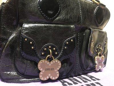 ANNA SUI 日本帶回復古英倫風 蝴蝶裝飾 牛津醫生包可參考 蝴蝶鑰匙龐克搖滾絕版不撞包 含運可刷卡(六月新進貨)