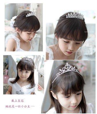 【衣Qbaby】 女童髮飾頭飾水鑽皇冠髮梳