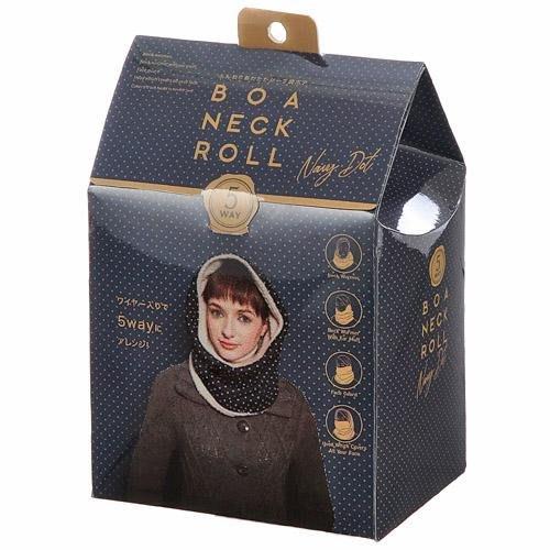 [霜兔小舖]日本代購  禮盒裝  5way 多功能 COGIT  藍色點點  內刷毛  脖圍 圍脖