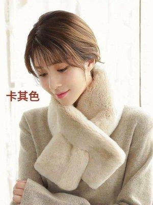 PT 韓國熱賣 天鵝絨級整皮瀨兔毛圍巾...