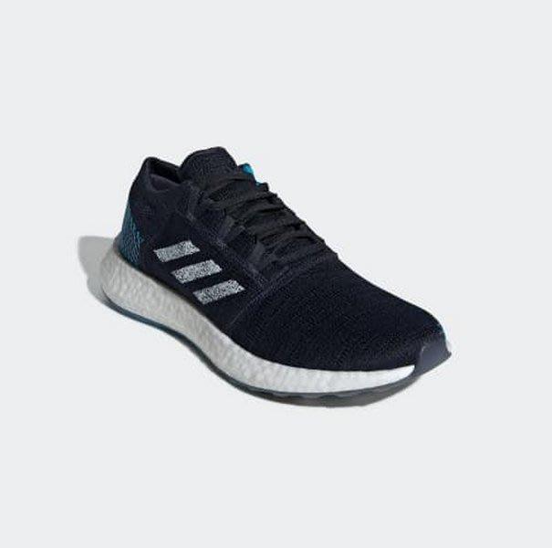 【豬豬老闆】ADIDAS PUREBOOST GO 黑 白藍 編織 休閒 運動 慢跑鞋 男鞋 EE4675